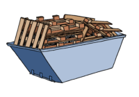 Reducing waste wood skip charges