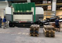 The RPS wood shredder is almost ready for its new home