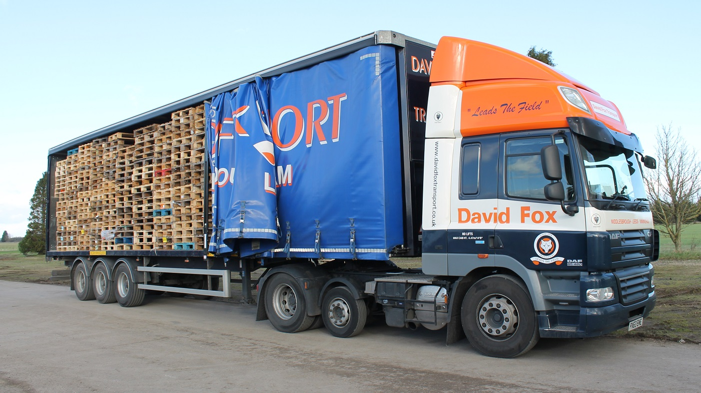 RPS wood used pallet collection fox transport middlesbrough